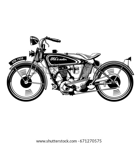 Royalty-free Motorcycle vector illustration.… #481937266