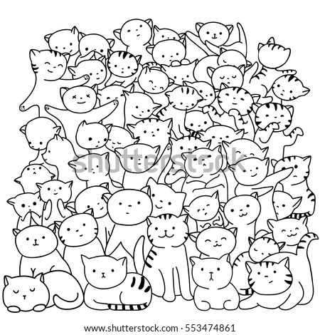 Vector seamless crowd of people Stock Photo 129801203
