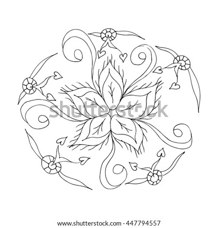 Large lotus flower in tattoo style.… Stock Photo 151678127