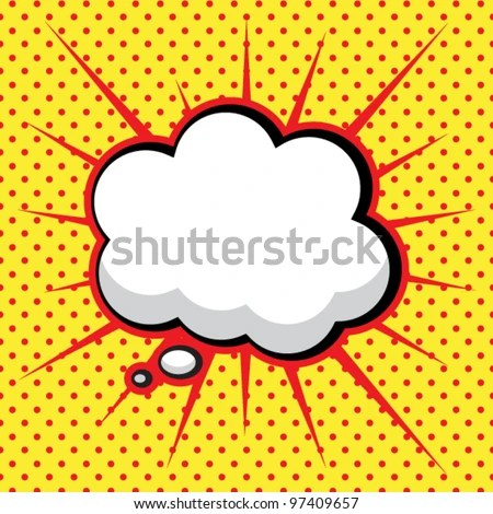 Speech Bubble in Pop-Art Style - stock vector