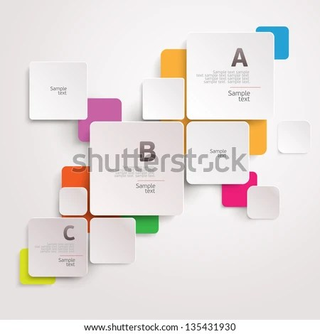 Modern colorful design - stock vector