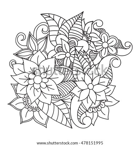 Royalty-free Flower design sketch for pattern,lace