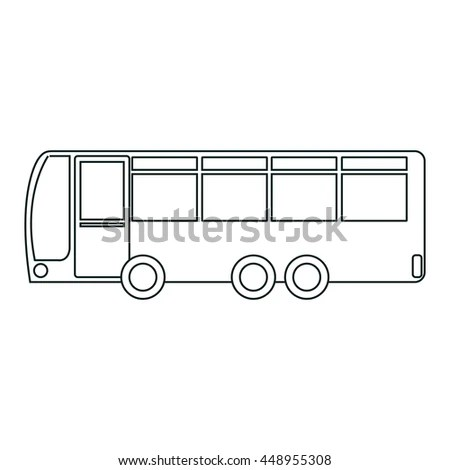 Bus sketch pencil drawing style Stock Photo 243753649