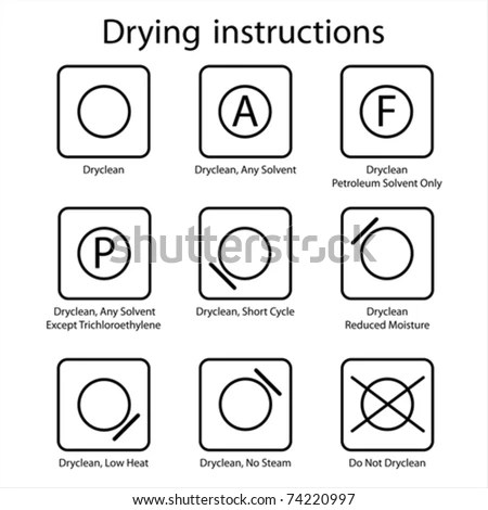 Dry Clean Instruction Stock Vector Illustration