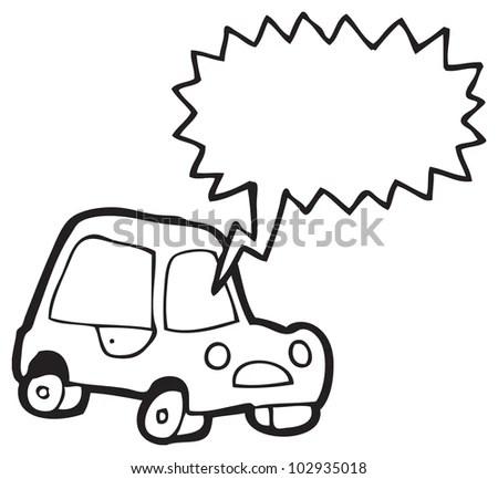 Cartoon Car Honking Horn Stock Photo 102935018 : Shutterstock