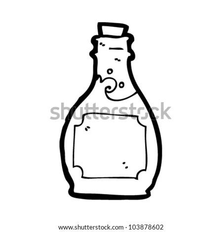 Cartoon Rum Bottle Stock Vector Illustration 103878602