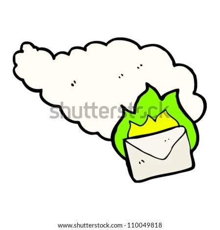 stock vector : burning magic letter cartoon