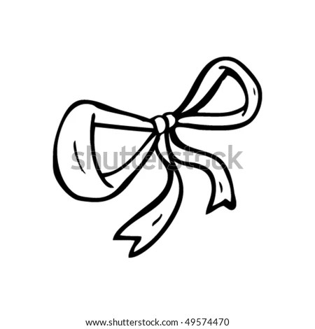 Quirky Drawing Of A Gift Bow Stock Vector Illustration
