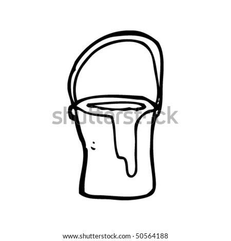 Quirky Drawing Of A Paint Pot Stock Vector Illustration