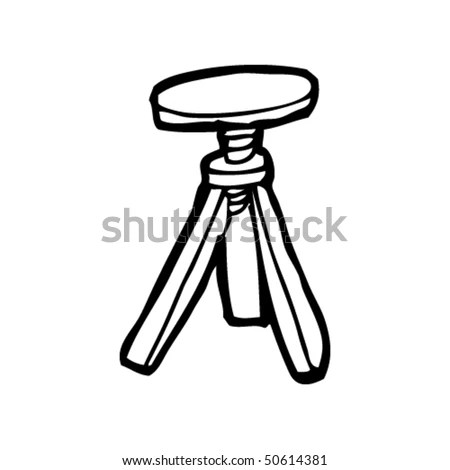 Quirky Drawing Of A Stool Stock Vector Illustration