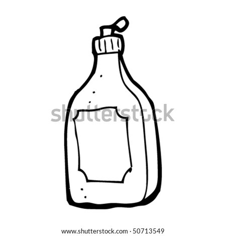 Quirky Drawing Of A Detergent Bottle Stock Vector
