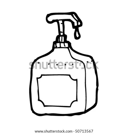 Quirky Drawing Of A Soap Dispenser Stock Vector