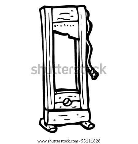 [Executioner operating guillotine during french revolution