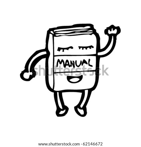 Cartoon Of A Happy Instruction Manual Stock Vector