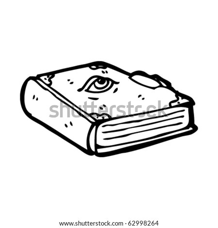 Magic Book Cartoon Stock Vector Illustration 62998264