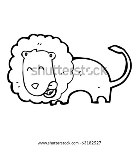 Hungry Lion Cartoon Stock Vector Illustration 63182527