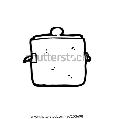 Cast Iron Cooking Pot Cartoon Stock Vector Illustration