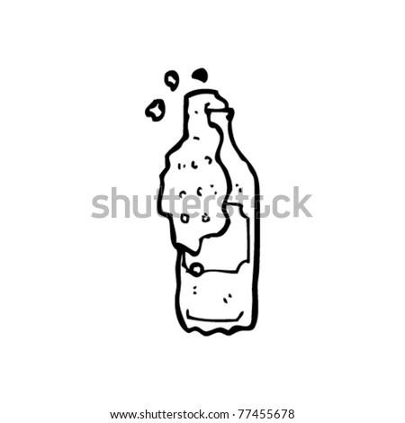 Fizzy Pop Bottle Cartoon Stock Vector Illustration