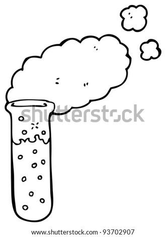 Science Test Tube Cartoon (Raster Version) Stock Photo