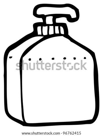 Cartoon Soap Bottle Stock Photo 96762415 : Shutterstock