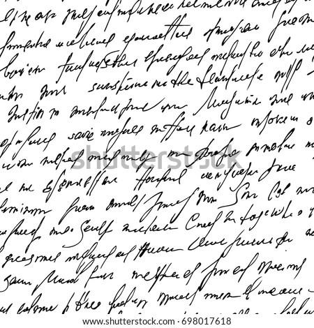 Brush Strokes and Handwritten Letter Vector Clipart Pack