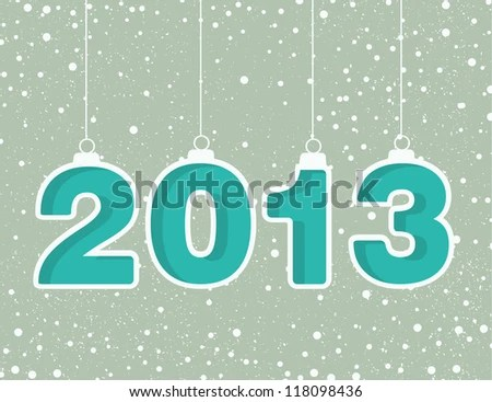 stock vector : Happy new year 2013! New year design template