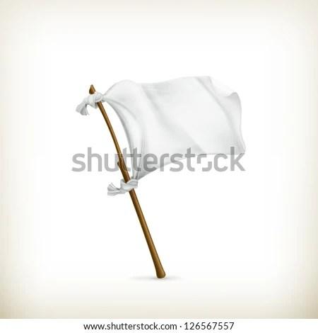 White flag, vector - stock vector