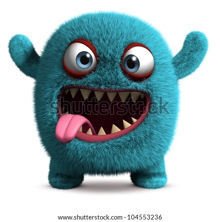 Cute Furry Monster Stock Photo 104553236 : Shutterstock