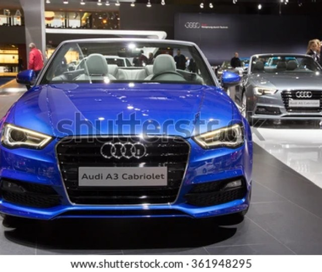 Brussels Jan   Audi A And Audi A Cabriolet On Display At