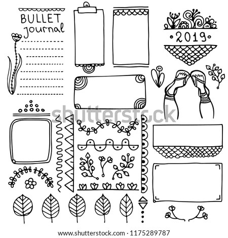 Royalty-free Vector illustration of a set of art
