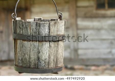 Vector Wooden Bucket Download Free Vector Art Free Vectors