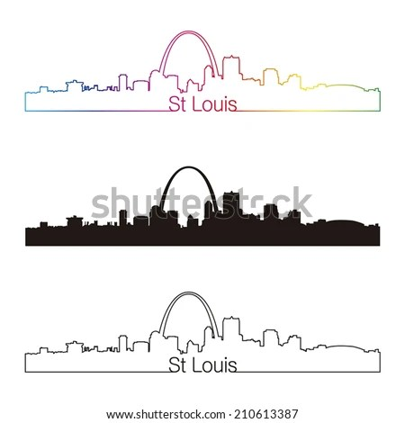 Saint Louis Missouri city skyline… Stock Photo 168977663