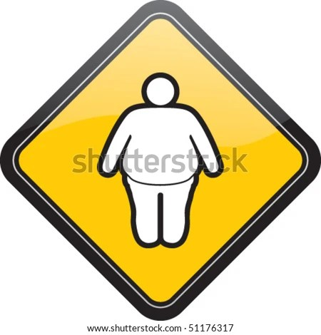 stock vector : Fat male