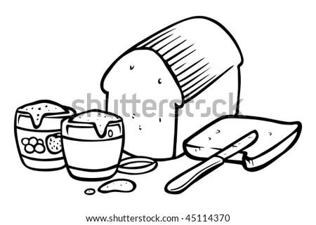 Peanut Butter And Jelly Sandwich Cartoon
