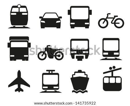 Vector Illustration Of Simple Monochromatic Vehicle And