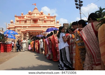 Image result for durga puja queues in kolkata