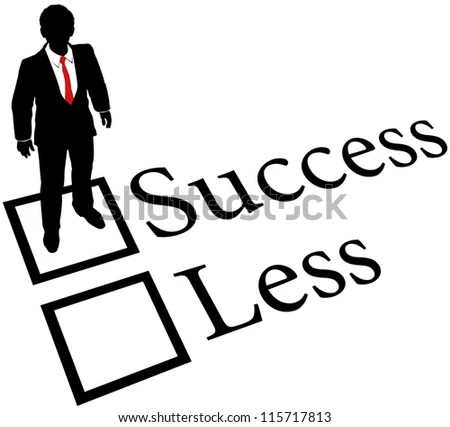 Business Person Check Success Box Nothing Less On