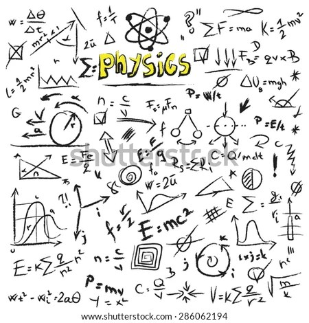 Doodle Physics Formulas Background, Texture And Pattern