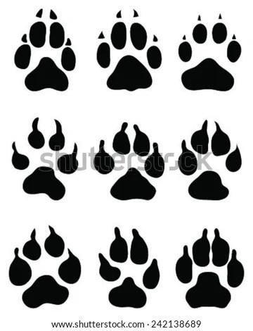 Royalty-free Set of safari animal tracks #281716955 Stock
