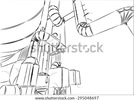 Sketch Of Piping Design Stock Vector 295048697 : Shutterstock