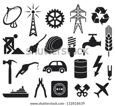 Royalty Free Stock Photos and Images: industry icons