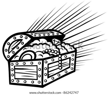 Treasure Chest Stock Vector Illustration 86242747