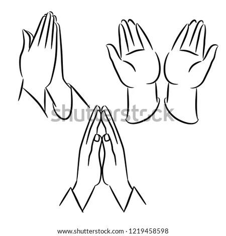 Namaste mudra hands of Indian woman… Stock Photo 308331221