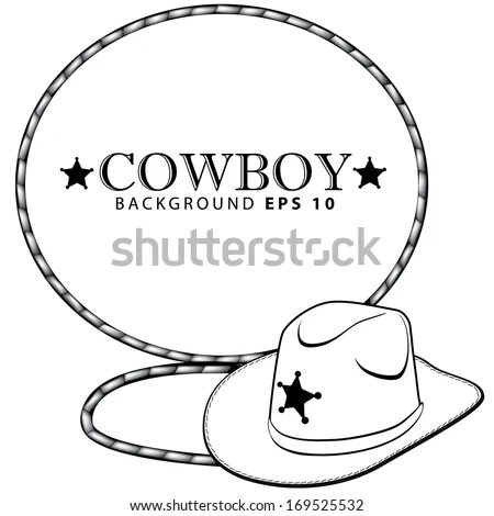 Vector Images, Illustrations and Cliparts: Cowboy hat and