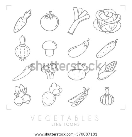Vector Images, Illustrations and Cliparts: Set of line