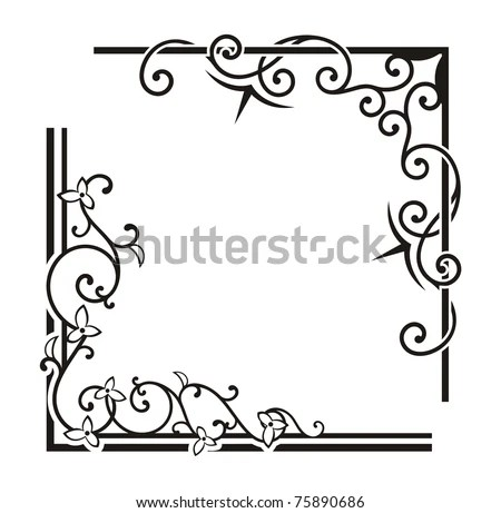 Exquisite Corner Ornamental Designs Stock Vector