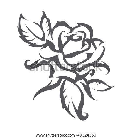 skull and roses tattoo stock vector : tattoo roses