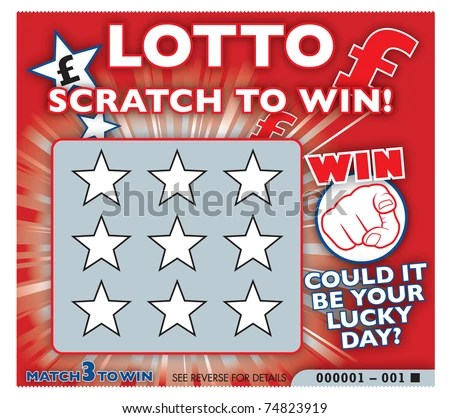 Lottery scratch card - stock photo