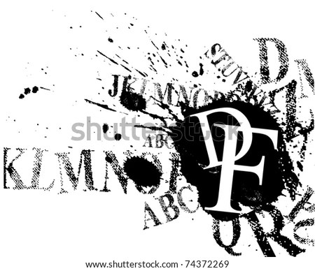 Font Background Stock Vector Illustration 74372269