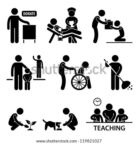 Vector Images, Illustrations and Cliparts: Man Charity